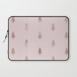Rose gold - forest of trees Laptop Sleeve
