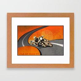 vintage Isle of Man TT motor race poster Framed Art Print