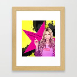 Fashion abstract poster Framed Art Print