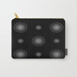 Abstract Pattern in White Carry-All Pouch