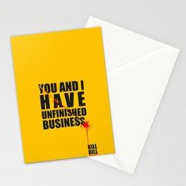 Kill Bill Minimal Poster 2.0 Stationery Cards