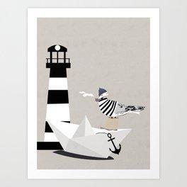 Fisher seagull Art Print