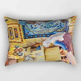 Turkish Rug Weaver by Nadia J Art Rectangular Pillow