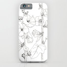 Blooming stock rose. Ink drawing iPhone Case