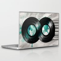 vinyl Laptop & iPad Skins featuring infinity vinyl by Vin Zzep