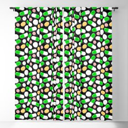 Deadly Pills Pattern Blackout Curtain