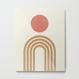 Mid century modern pink Metal Print
