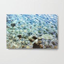 Stones under water Metal Print