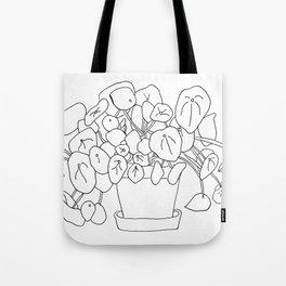 Pilea Plant Tote Bag