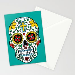 Colorful Skull IX Stationery Cards