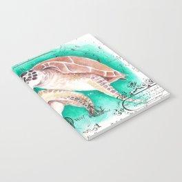 Sea Turtles Vintage Map Notebook