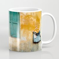 vietnam Mugs featuring Antique Chinese Wall - VIETNAM by CAPTAINSILVA