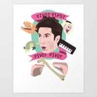 pivot Art Prints featuring Pivot - Dr. Ross Geller by Mary HB Nguyen