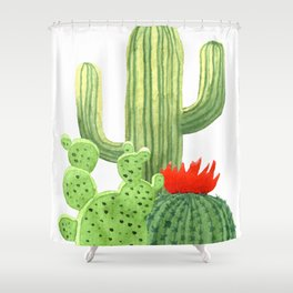 Perfect Cactus Bunch Shower Curtain