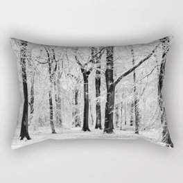 Snowy Beech Trees Rectangular Pillow