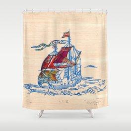 Sailing Ship XI Shower Curtain