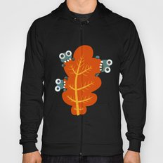 Cute Bugs Eat Autumn Leaf Hoody