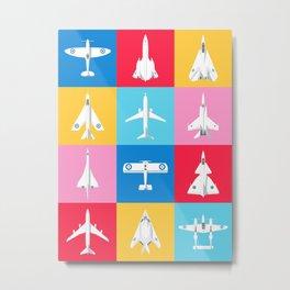 Classic Iconic Aircraft Pattern - International Metal Print