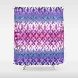 PINK GEOMETRY  Shower Curtain