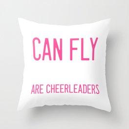 Humans Fly Cheerleader Dancer Gift Throw Pillow