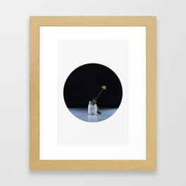 Oblò: The yellow flower Framed Art Print
