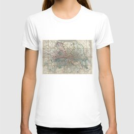 Vintage Map of London England (1852) T-shirt