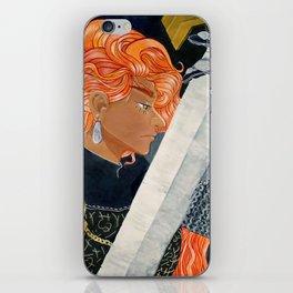 Crimson Haired Knight iPhone Skin