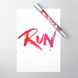 Run Wrapping Paper