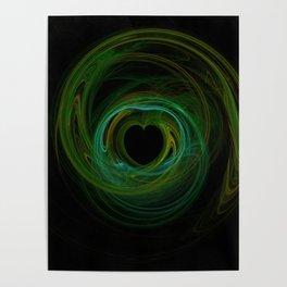 Valentine's Fractal VIII - Dark Poster