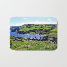 Landscape of Antrim coast. Northern Ireland Bath Mat