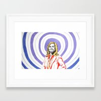 amy poehler Framed Art Prints featuring Amy Poehler by Rachel Hoffman