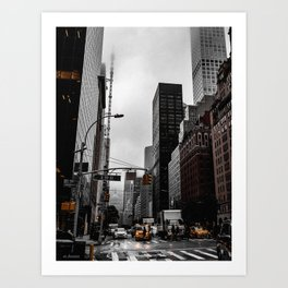 Foggy Day In The City Art Print