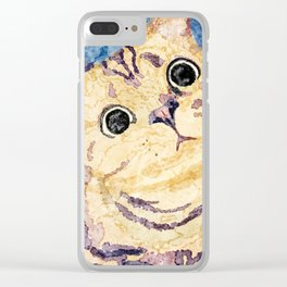 Watercolor Kitty Clear iPhone Case