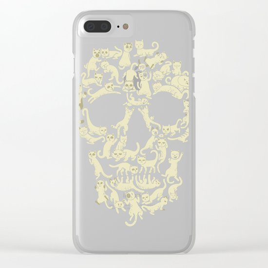 Catskull Clear iPhone Case