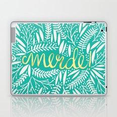 Pardon My French – Gold on Turquoise Laptop & iPad Skin