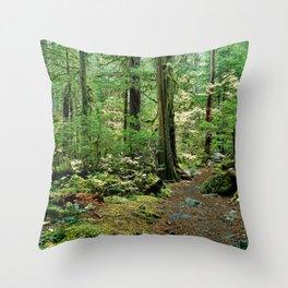 Forest Garden Throw Pillow