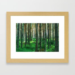Green Forest Framed Art Print