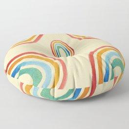 Hand Painted Pastel Rainbow Floor Pillow