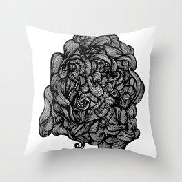Piles of Folds Throw Pillow