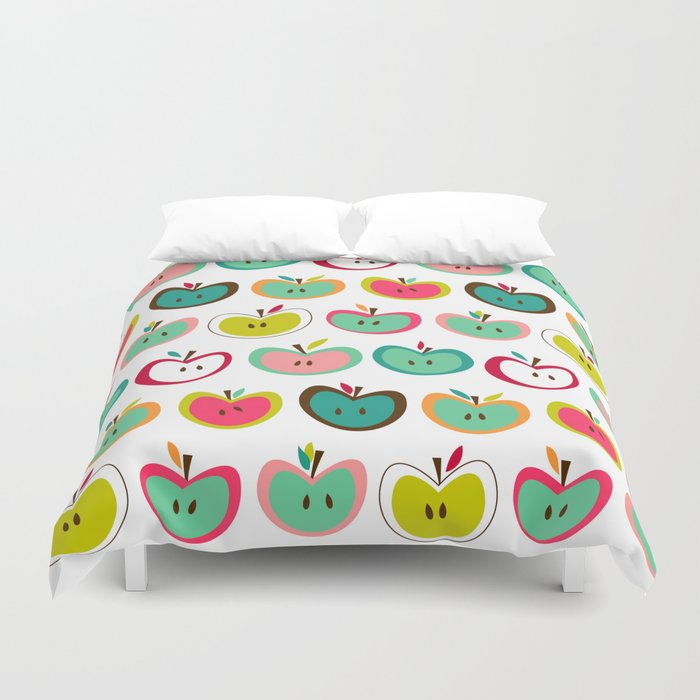 Cute Apples  Duvet Cover