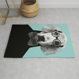 Mr Italian Bloodhound the Hipster Rug