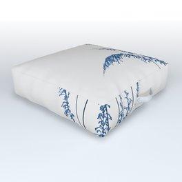 Blue flowers 2 Outdoor Floor Cushion