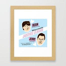 Dean Strang & Jerry Butin - Wisconsin Justice League Framed Art Print