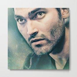 Derek in Green Metal Print