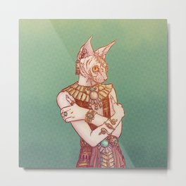 Safiya The Sphynx Cat Metal Print
