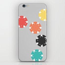 #21 Poker Chips iPhone Skin