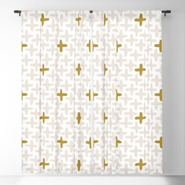 Cross Stitch, Gold Blackout Curtain