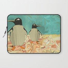 Penguins in Paradise Laptop Sleeve
