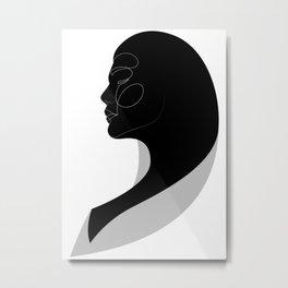 noir lady - one line art - 03_n_t Metal Print