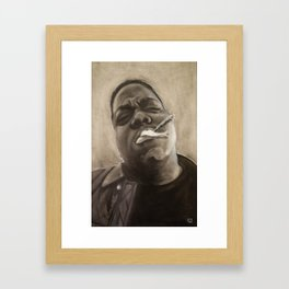 Biggie in Charcoal Framed Art Print